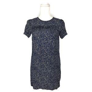 J Crew Factory Silk Dot Print Mini Dress